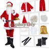 Christmas Costume Santa Claus Adult For Men Suit Cosplay Outfit Custom Made