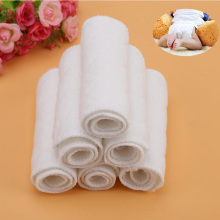 10 шт/партия тканевые подгузники вкладыши Многоразовые Детские моющиеся подгузники вставки мягкий белый хлопок для подгузников лайнер 3 слоя