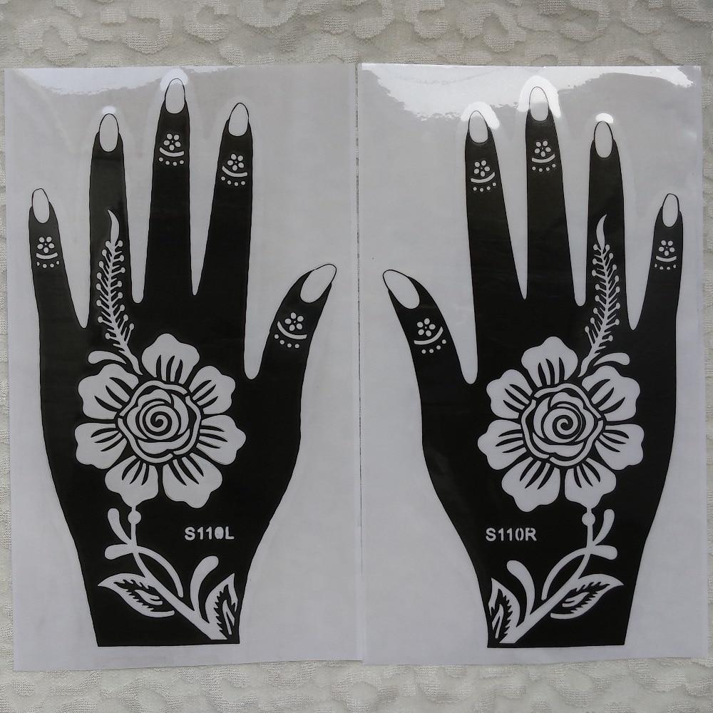 Aliexpress.com: Comprar 20 unids grande mehndi Henna Plantillas para ...