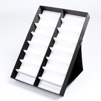 16Girds Folding Standing Glasses Sunglasses Display Box Stand Eyeglasses Holder Clear Cover Tray Box Compartments