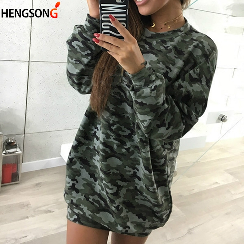 2018 New Autumn Hoody Spring Pullover Women Camouflage Hoodies Sweatshirts O-neck Long Sleeve Hoodies For Women Outerwear