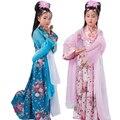 Hot vender 5 cores Cosplay crianças traje antigo crianças fada traje com fita criança Ruqun crianças vestido Hanfu roupas 16