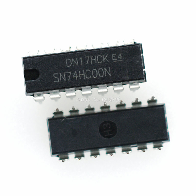 10PCS/LOT SN74HC00N DIP14 SN74HC00 DIP 74HC00N 74HC00 DIP-14 New IC