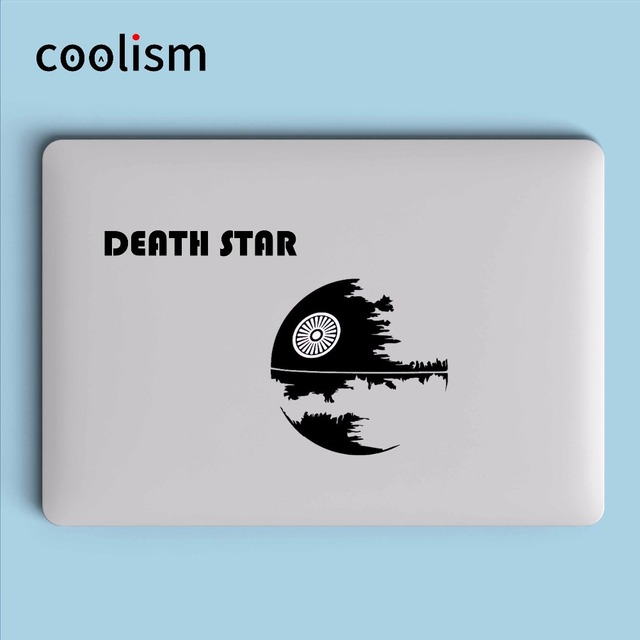 Glowing death star logo laptop sticker for apple macbook pro air retina 11 12 13 15