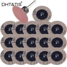 """DHT & TIS 100 Uds + 1 soporte de pc 2 """"Disco de lijado de tela de lijado de cambio rápido Roloc abrasivo pulido Padfor de pulido de aleación de Metal duro"""