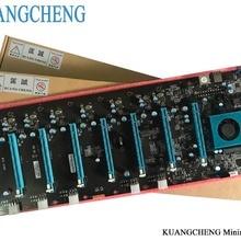 KUANGCHENG Майнинг материнская плата 8 графика ETH майнеры(с ЦП) BTC PLUS BTC ETH большая плата 8 GPU Antminer Майнинг материнская плата