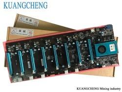 لوحات KUANGCHENG للتعدين 8 رسومات ETH لعمال المناجم (مع وحدة المعالجة المركزية) BTC PLUS BTC ETH لوحة كبيرة 8 وحدة معالجة الرسومات Antminer التعدين اللوحة الرئي...
