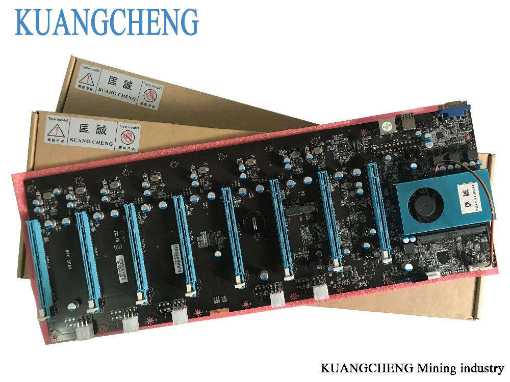 KUANGCHENG Mining Motherboard 8Graphics ETH miners (with cpu) BTC PLUS BTC ETH large board 8 GPU Antminer Mining Mainboard  ...