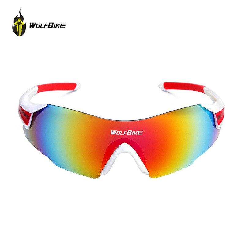 Prix pour Wolfbike anti-uv vélo lunettes sports de plein air lunettes de vélo coupe-vent lunettes de soleil unisexe lunettes bicicleta vtt lunettes lunettes