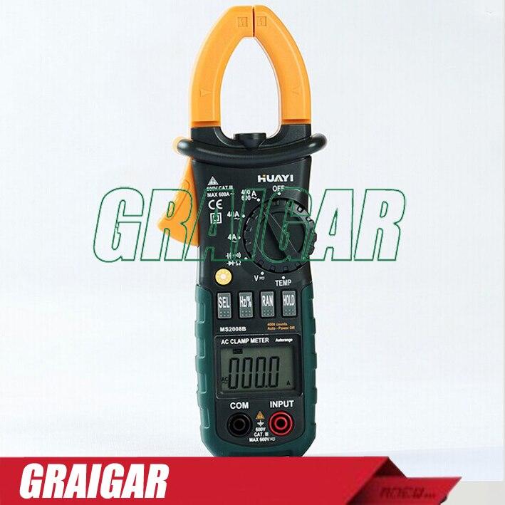Digital Panel Calibrate Clamp Meter MS2000B Voltmeter Ammeter Clamp Multimeter dual red blue led digital voltmeter ammeter panel volt gauge meter
