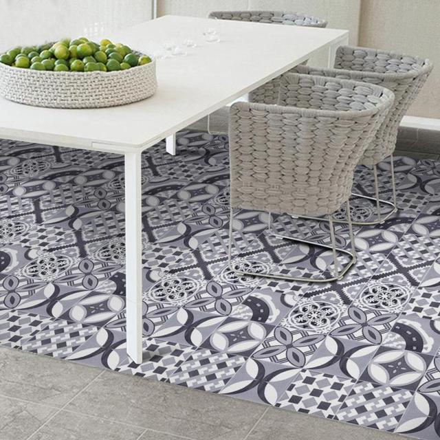 20 cm * 5 m Zelfklevende Tegel Muursticker Geometrische patroon PVC ...