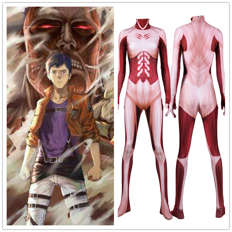 New Anime Attack on Titan Cosplay Costume Zentai Bodysuit Suit Unisex Adult Kid Sexy Spandex Jumpsuits Halloween Party
