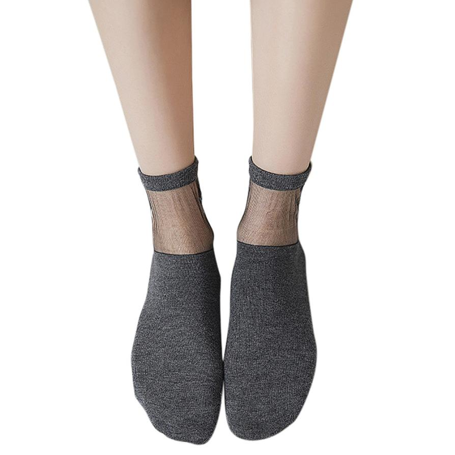 1dfd5f851c1 DOUDOULU Bow Ultra thin Woman transparent socks women Crystal Thin Summer  Ankle Socks Creative Sock calcetines mujer algodon WS-in Socks from  Underwear ...