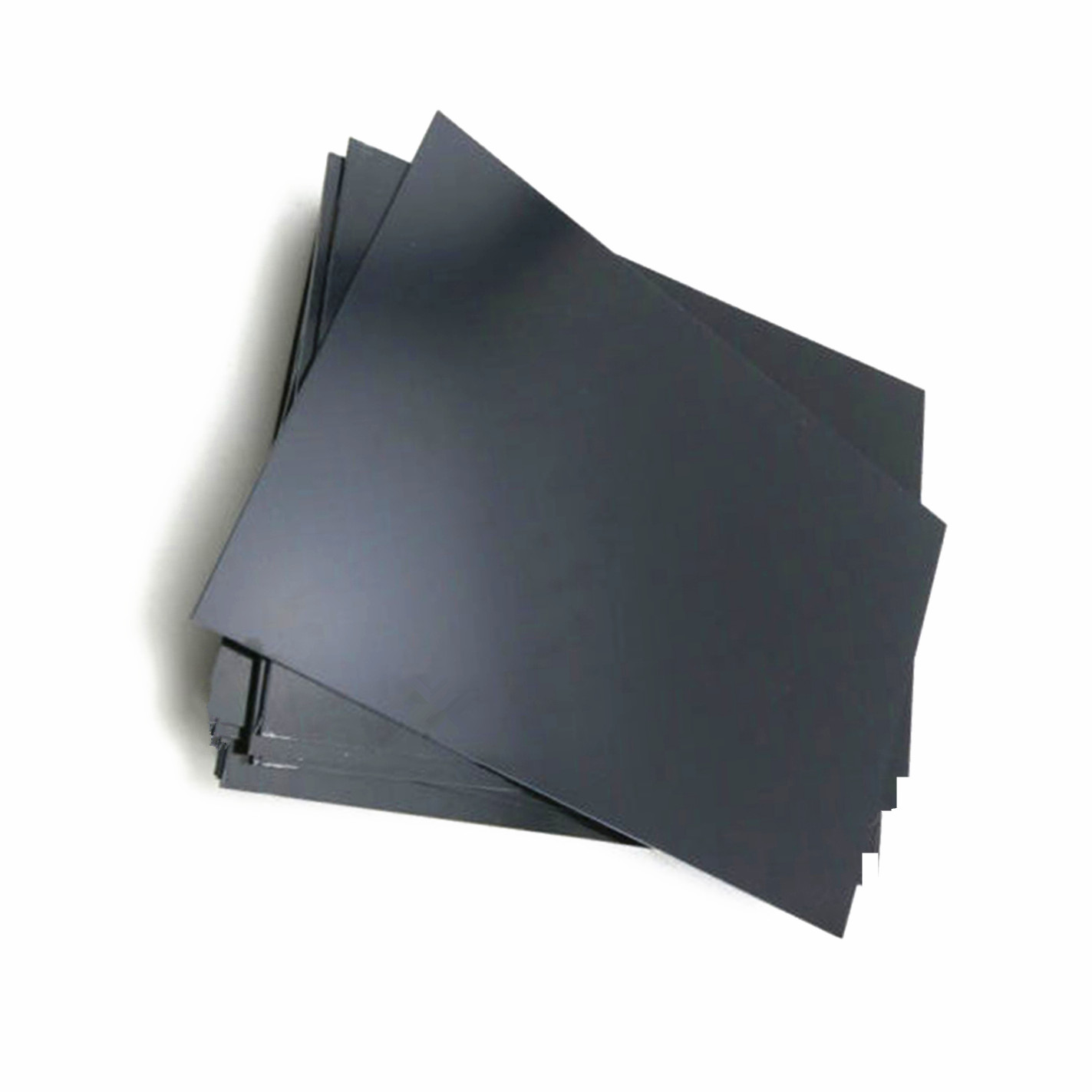 1Pc Durable Black ABS Styrene Plastic Flat Sheet Electrical Insulation Plastic Plate 0.5mm Thickness For Food Industry Parts