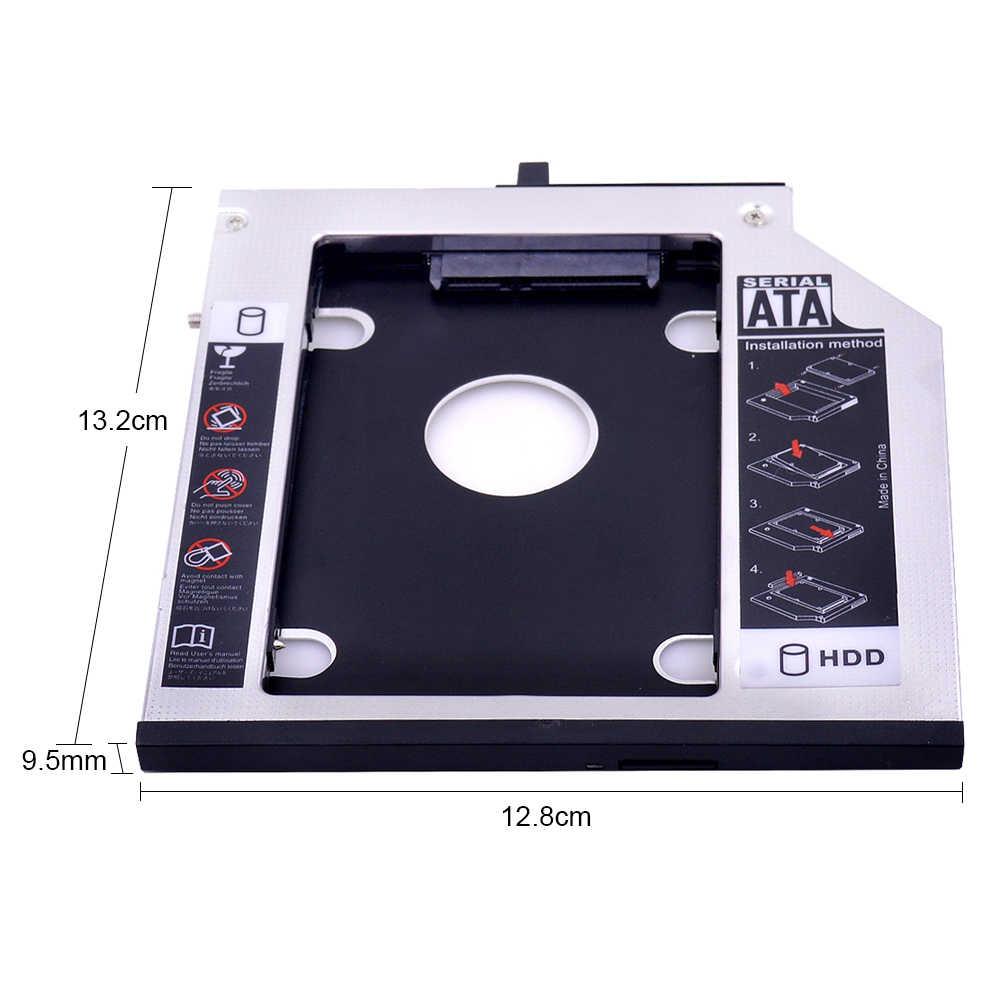 "CHIPAL Aluminium SATA 3,0 2nd HDD Caddy 9,5mm für 2.5 ""SSD Fall HDD Gehäuse für Lenovo ThinkPad T400 t500 W500 T410 CD DVD ROM"
