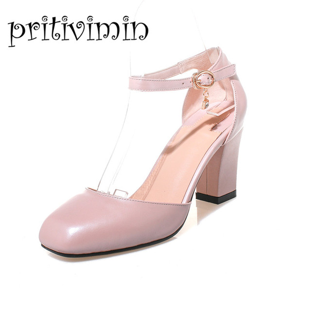 cc164700693 New fashion women s summer sandals square toe strappy pumps shoes laidies  white high heels sandals woman
