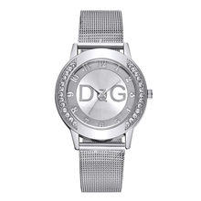 Relogio Feminino Luxo 2019 dames montre avec cristal Simple mode dame maille bracelet montre strass boîtier montre couleur Pure sangle(China)