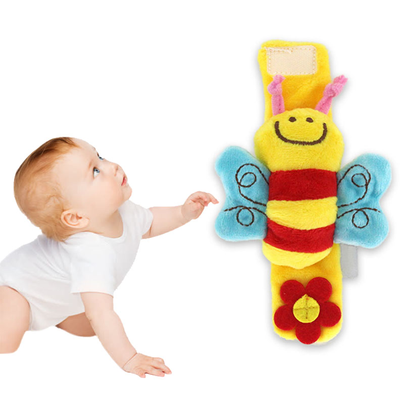 Baby Rattles Toys Adorable Animal Wrist Rattle Soft Educational Toys For Infant AN88