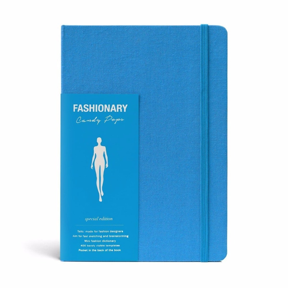 A5 Womens Sketchbook Blue Notebook Quick Sketches for Fashion Illustrator sketches in lavender blue and green
