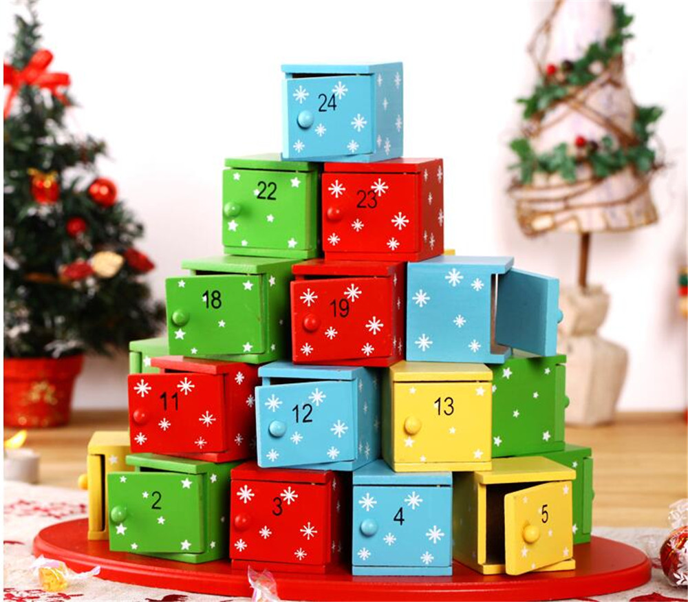 christmas presents decorative candy boxes advent calendar - Decorative Christmas Boxes