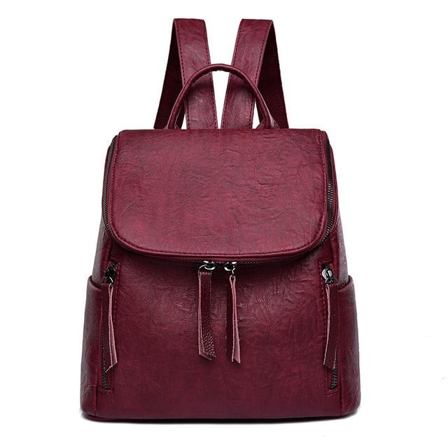 15998cd5fc New Winter Fashion Women Backpack High Quality Leather Backpacks For Teenage  Girls Female School backpack Shoulder