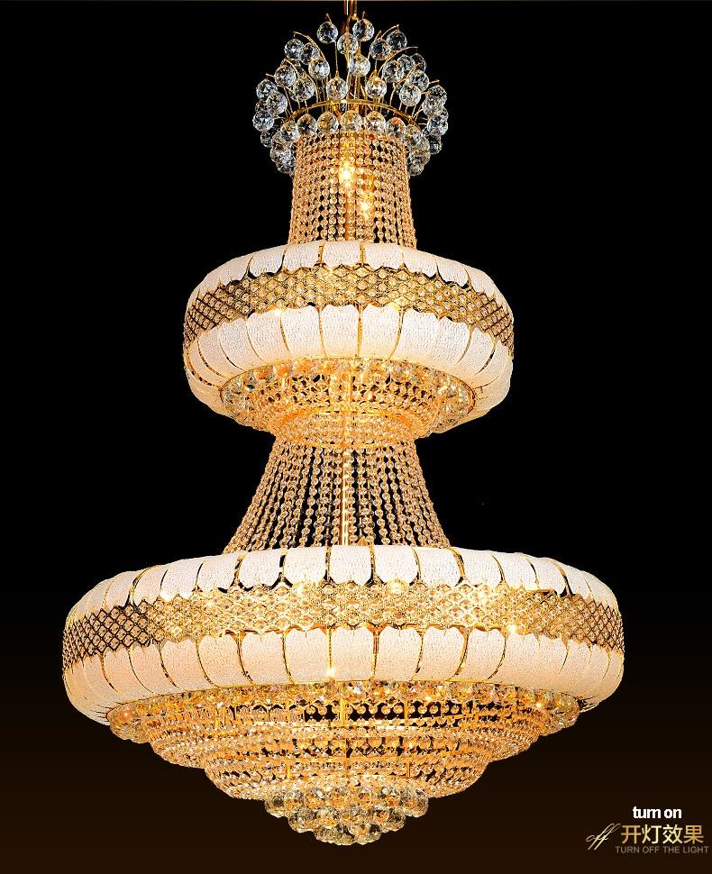 LED Avizeler Işıklar Fikstürü Altın Kristal Avize Altın Ev - İç Mekan Aydınlatma - Fotoğraf 5