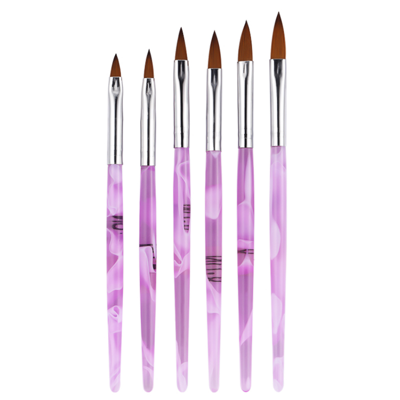 Yinikiz Crystal Acrylic Nail Art Brushes 6pcs/set UV Gel