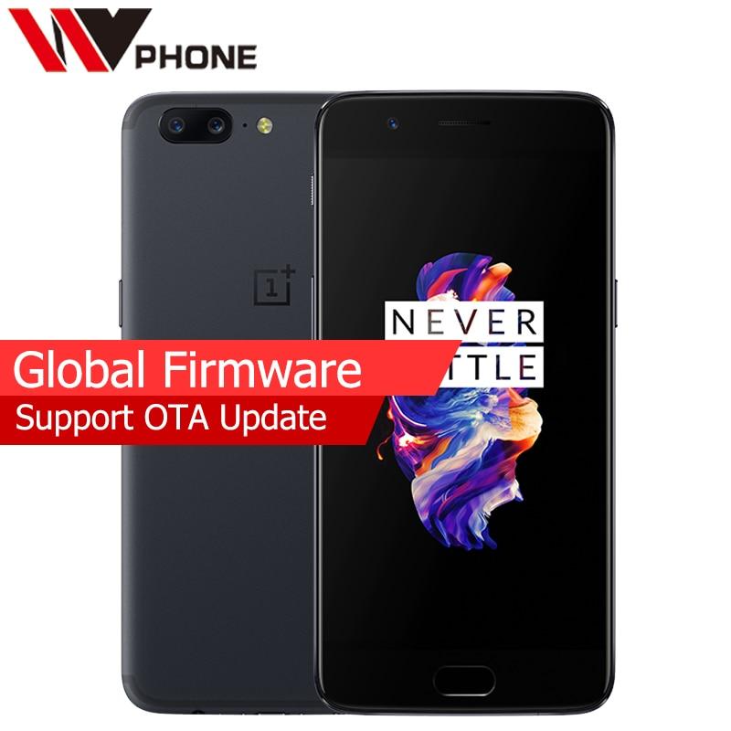 "bilder für Ursprüngliche Oneplus 5 LTE 4G Handy Snapdragon 835 Octa-core 5,5 ""6G RAM 64G ROM Dual Rückfahrkamera Fingerprint ID NFC"
