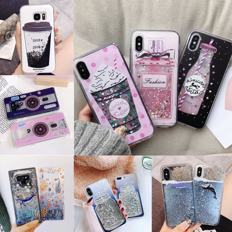 Liquid Water Case Soft Silicone Cover for Huawei P30 Pro P20 Lite P Smart Plus 2019 Mate 20 Cases Unicorn Perfume Bottle Whale