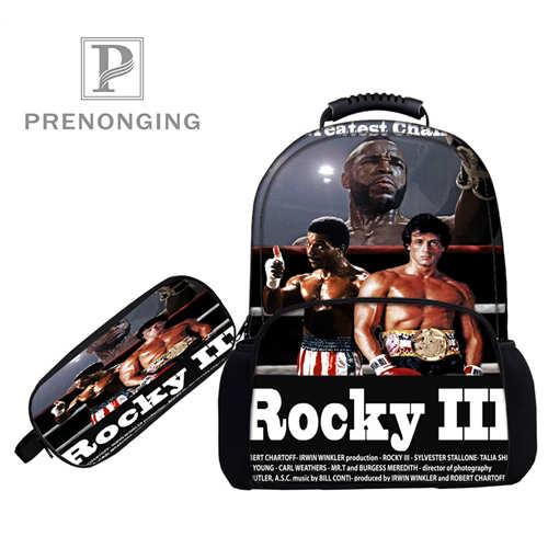 Custom 17 Inch Rocky_balboa (rugzakken Pen Zakken 3d Printing School Vrouwen Mannen Reistassen Jongens Meisjes Boek Computers Tas #1031-5-91