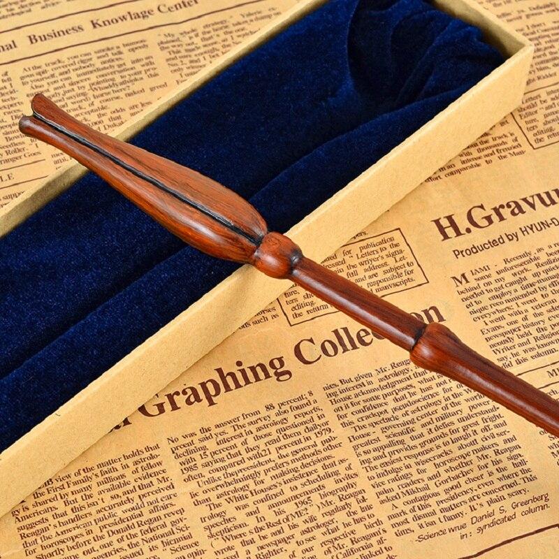 Новый colsplay металл железо core Luna Лавгуд Волшебная палочка Гарри Поттер Magic волшебная палочка высокое качество упаковка подарочная коробка