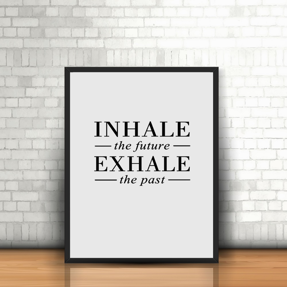 Unframed Nordic Style Canvas Print Quote Inhale The Future And