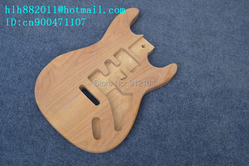 free shipping new alder electric guitar body in natural without paint+foam box 2034 free shipping retail new electric bass guitar body in natural color foam box