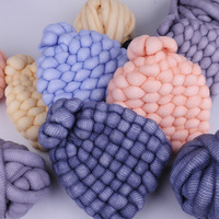 500g/ball Super Thick Iceland Cashmere Yarn Soft Baby Cotton Yarn for Hand Knitting Crochet Blanket Hat Plush Yarn Thread JK500