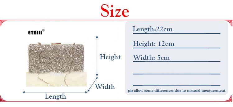 Women Sequins Clutch Handbag Fashion Brand Lady Evening Bag