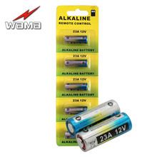 20pcs/4pack Wama Alkaline 12V 23A Primary Dry Batteries 21/23 23GA A23 A-23 RV08 Alarm Car Remote Battery Drop Ship