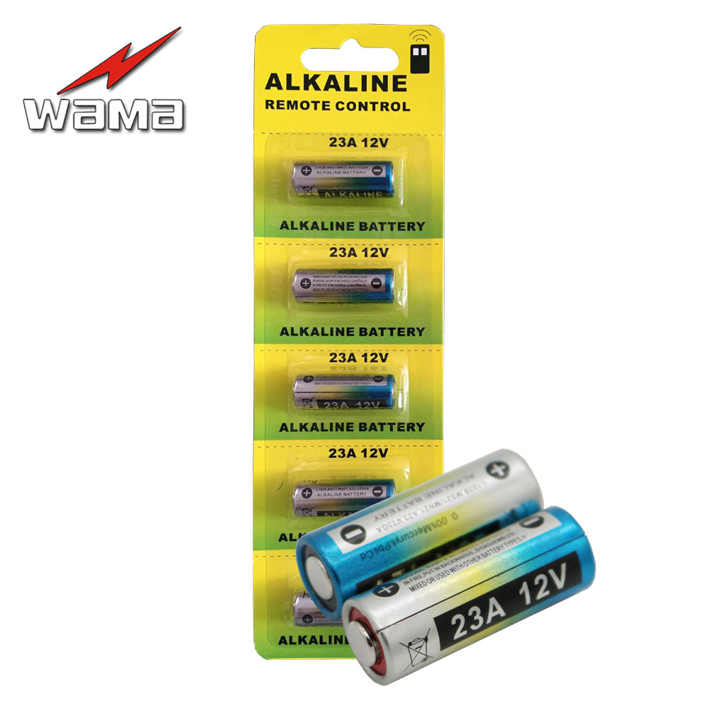 20pcs/4pack Wama Alkaline 12V 23A Primary Dry Batteries 21/23 23GA A23 A-23 RV08 Alarm Car Remote Battery Drop Ship