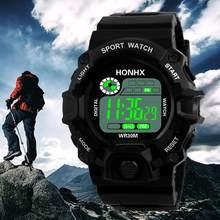 Homens de luxo Analógico Digital Militar Do Exército Do Esporte LED relógio de Pulso À Prova D' Água Relógio m en 2018 homens da moda relógios top marca luxo