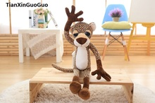 new arrival large 80cm cute jungle leopard soft plush toy throw pillow birthday gift h0823