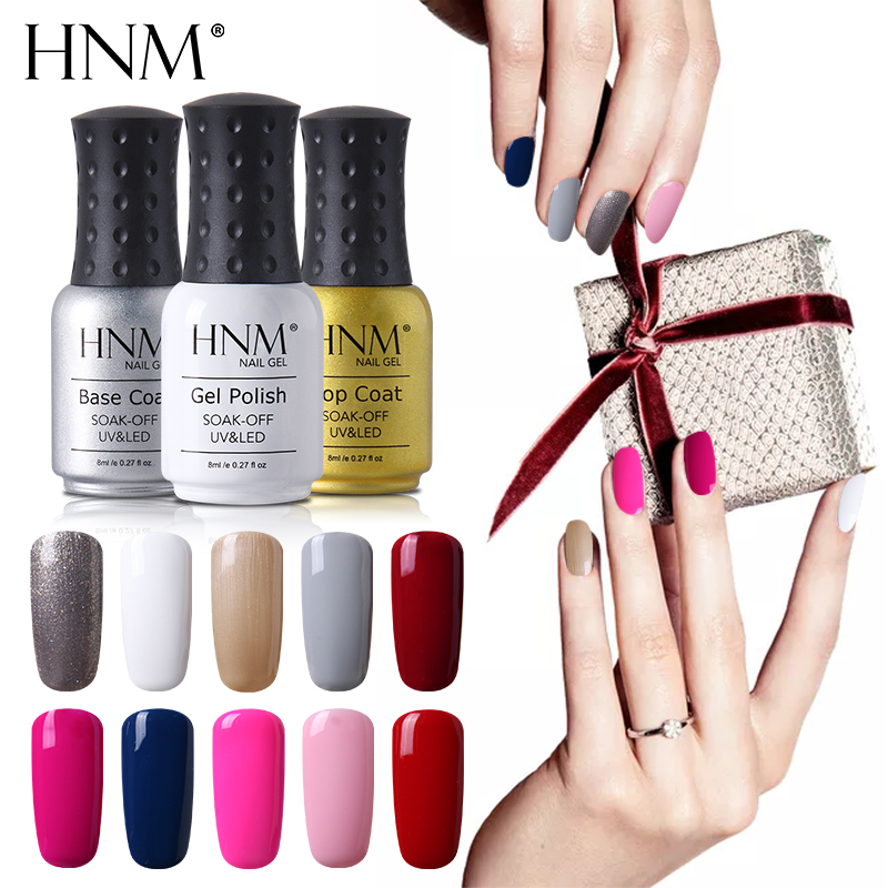 How Long Does Nail Polish Remover Last: HNM 8ML Soak Off Gel Nail Polish Long Last Nail Gel Polish