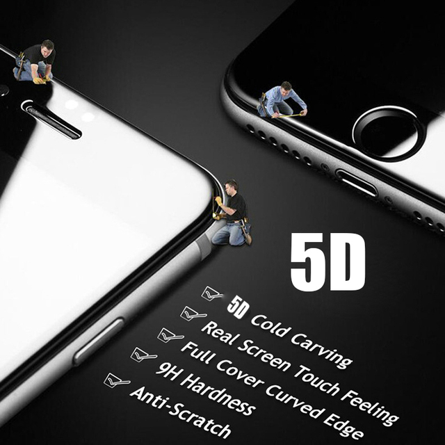 5D Curved Edge Full Cover Screen Protector For iPhone 6 7 6S Plus 11 Pro Max Tempered Glass For iPhone 8 Plus X XR XS Max Glass 4