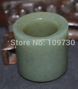 Vente chaude Chinois Vintage Singkiang Jade Fortune Bande Anneau Totem Amulette Sculpture> bijoux De Mariée livraison gratuite