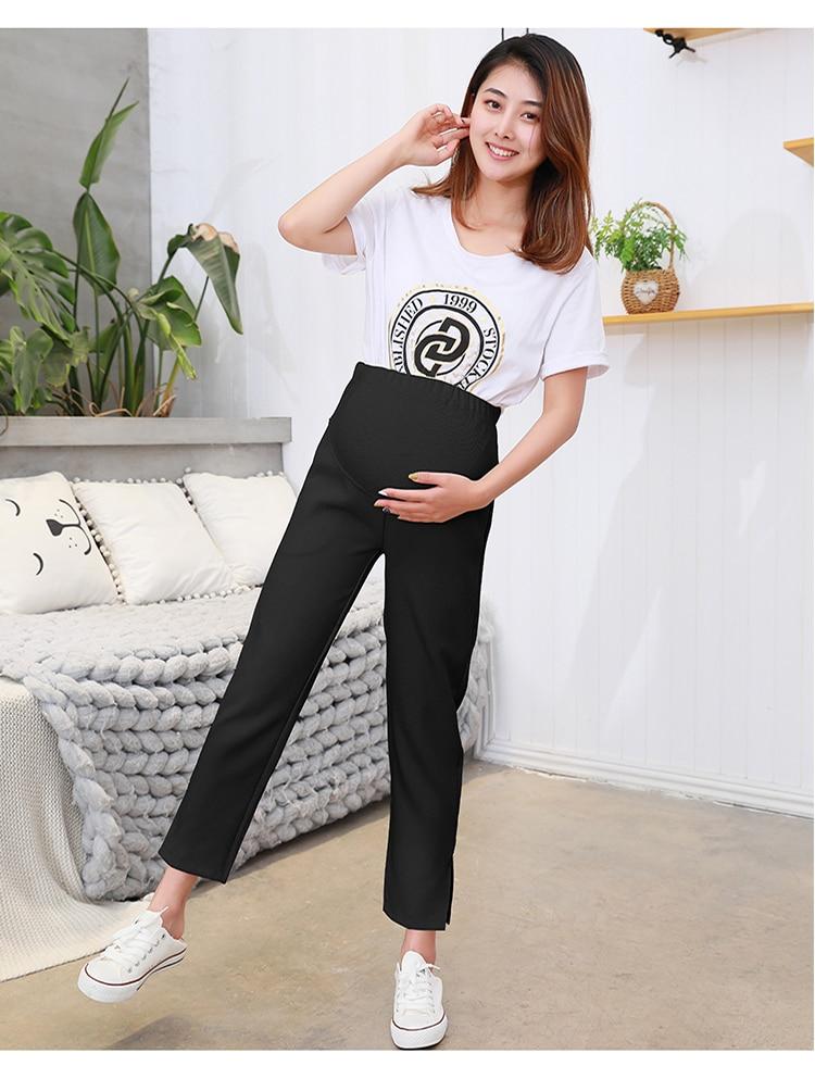 604#9/10 Длина Весна Модная Летняя одежда для будущих мам брюки для девочек живота карандаш одежда беременных для женщин OL формальные работы беременн