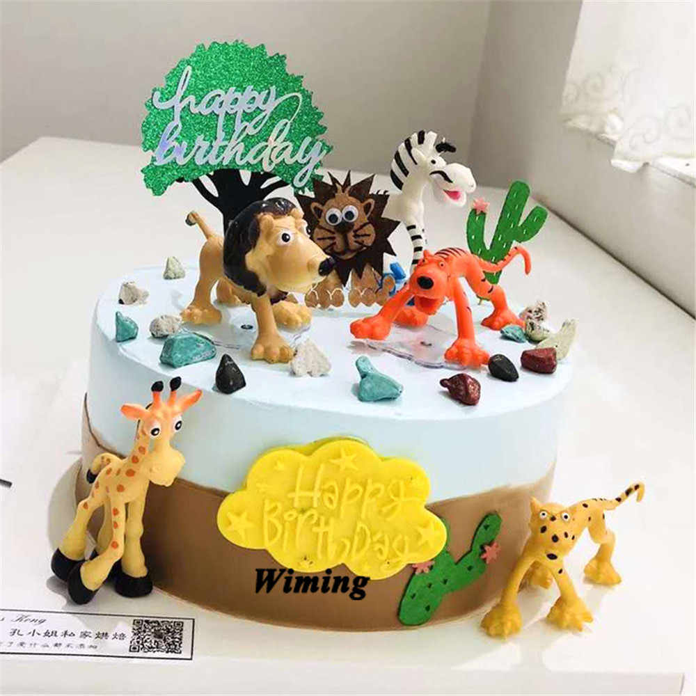Stupendous Africa Wild Animals Cake Topper Birthday Animals Ts For Baby Funny Birthday Cards Online Alyptdamsfinfo