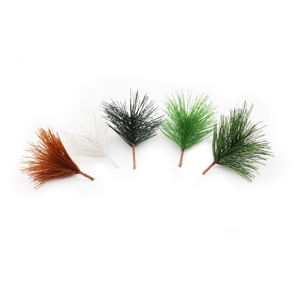 Christmas Tree Needles: 10pcs Artificial Pine Needles Xmas Tree Wreath Decoration