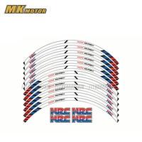 12 X Thick Edge Outer Rim Sticker Stripe Wheel Decals FIT all For HONDA cbr 600rr cbr1000RR