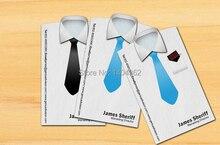 Custom vorm bezoek Card printing gestanst visitekaartje Gepersonaliseerde custom visitekaartjes full kleur en 300g papier