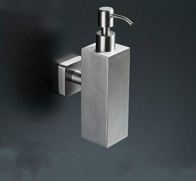 Distributeur de savon désinfectant pour les mains bouteille presse mural/vertical/hôtel gel douche mousse bouteille 304 acier inoxydable