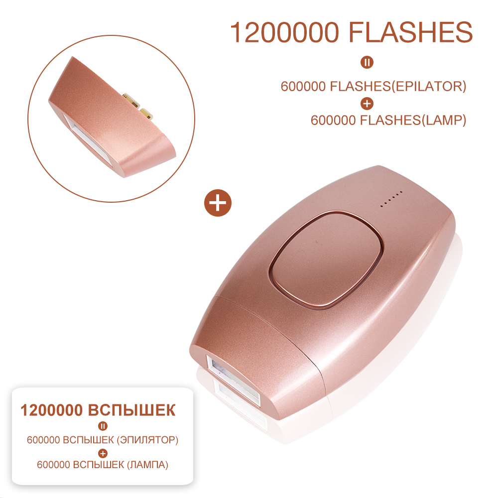 1200000 Flash Permanent IPL Epilator Laser Hair Removal Depiladora Facial Electric Photoepilator Painless Hair Remover Dropship(China)