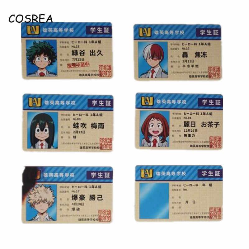 Аниме Мой герой Academy Izuku Midoriya студенческий держатель для карт Косплей костюмы студенческий билет держатель для мужчин держатель для карт